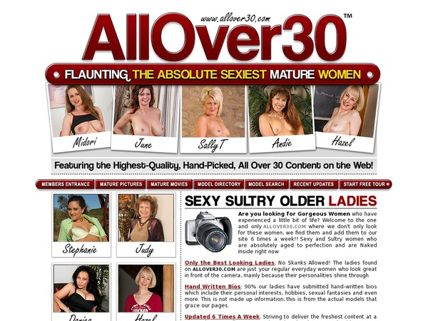 All Over 30 Original Sign In